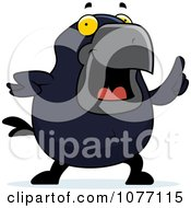 Clipart Crow With An Idea Royalty Free Vector Illustration by Cory Thoman