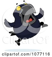 Clipart Crow Jumping Royalty Free Vector Illustration by Cory Thoman