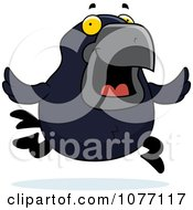 Clipart Crow Running Royalty Free Vector Illustration by Cory Thoman