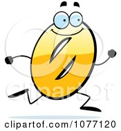 Clipart Running Yellow Number Zero Royalty Free Vector Illustration