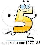 Clipart Running Yellow Number Five Royalty Free Vector Illustration