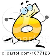 Clipart Running Yellow Number Six Royalty Free Vector Illustration