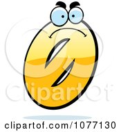 Clipart Mad Yellow Number Zero Royalty Free Vector Illustration