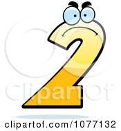 Clipart Mad Yellow Number Two Royalty Free Vector Illustration