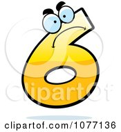 Clipart Mad Yellow Number Six Royalty Free Vector Illustration by Cory Thoman