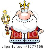 Clipart Royal King Holding A Scepter Royalty Free Vector Illustration