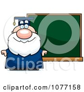 Clipart Professor Standing By A Chalkboard Royalty Free Vector Illustration by Cory Thoman