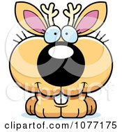 Clipart Cute Jackalope With A Happy Expression Royalty Free Vector Illustration