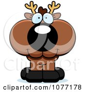 Clipart Cute Deer With A Happy Expression Royalty Free Vector Illustration by Cory Thoman