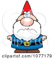Clipart Mad Gnome Royalty Free Vector Illustration by Cory Thoman