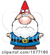 Clipart Sad Gnome Royalty Free Vector Illustration by Cory Thoman