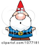 Clipart Shocked Gnome Royalty Free Vector Illustration by Cory Thoman