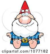 Clipart Sitting Gnome Royalty Free Vector Illustration by Cory Thoman