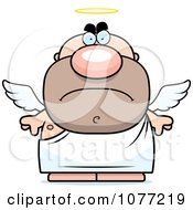 Clipart Mad Angel Man Royalty Free Vector Illustration