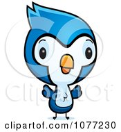 Clipart Cute Baby Bluejay Chick Royalty Free Vector Illustration