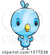 Clipart Cute Baby Blue Jay Chick Royalty Free Vector Illustration
