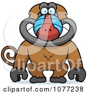 Clipart Smiling Baboon Monkey Royalty Free Vector Illustration by Cory Thoman