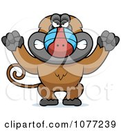Clipart Mad Baboon Monkey Royalty Free Vector Illustration by Cory Thoman