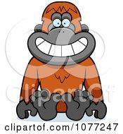 Sitting Orangutan Monkey