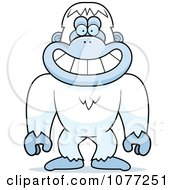 Clipart Smiling Yeti Abominable Snowman Monkey Royalty Free Vector Illustration by Cory Thoman