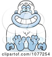 Clipart Sitting Yeti Abominable Snowman Monkey Royalty Free Vector Illustration