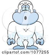 Clipart Surprised Yeti Abominable Snowman Monkey Royalty Free Vector Illustration by Cory Thoman