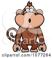 Clipart Surprised Monkey Royalty Free Vector Illustration