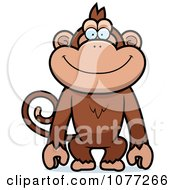 Clipart Happy Monkey Royalty Free Vector Illustration