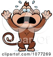 Screaming Monkey, Clip Arts - Clipart.me  |Scared Monkey Animation