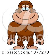 Clipart Bigfoot Sasquatch Royalty Free Vector Illustration