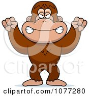 Clipart Mad Bigfoot Sasquatch Royalty Free Vector Illustration