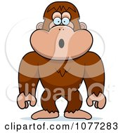 Clipart Shocked Bigfoot Sasquatch Royalty Free Vector Illustration by Cory Thoman