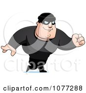 Clipart Walking Male Robber In Black Royalty Free Vector Illustration by Cory Thoman
