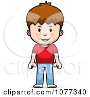 Clipart School Boy Standing Royalty Free Vector Illustration by Cory Thoman