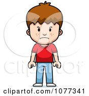 Clipart School Boy With A Mad Expression Royalty Free Vector Illustration by Cory Thoman