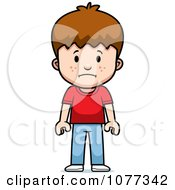 Clipart School Boy With A Sad Expression Royalty Free Vector Illustration by Cory Thoman