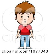 Clipart School Boy With A Scared Expression Royalty Free Vector Illustration by Cory Thoman