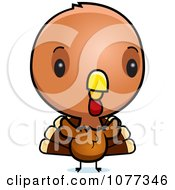 Clipart Cute Baby Turkey Bird Royalty Free Vector Illustration by Cory Thoman