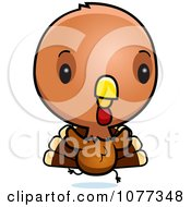 Clipart Cute Baby Turkey Bird Running Royalty Free Vector Illustration by Cory Thoman