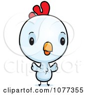 Clipart Cute Baby White Rooster Chick Royalty Free Vector Illustration