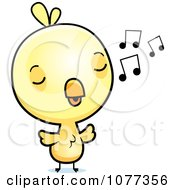 Cute Baby Yellow Chick Whistling
