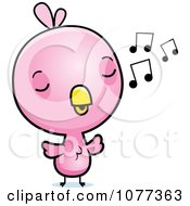 Cute Baby Pink Chick Whistling by Cory Thoman