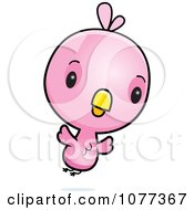 Clipart Cute Baby Pink Chick Flying by Cory Thoman