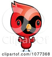 Clipart Cute Red Baby Cardinal Chick Royalty Free Vector Illustration by Cory Thoman