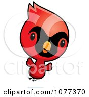 Clipart Cute Red Baby Cardinal Chick Flying Royalty Free Vector Illustration by Cory Thoman