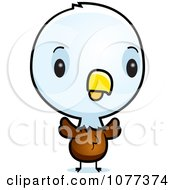 Clipart Cute Baby Bald American Eagle Chick Royalty Free Vector Illustration