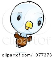 Clipart Cute Baby Bald American Eagle Chick Flying Royalty Free Vector Illustration