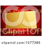 Clipart 3d Gold Gift Tag In Red Ribbon And Paper Royalty Free Vector Illustration by elaineitalia