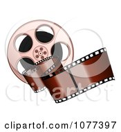 Clipart Brown Film Strip And Reel Royalty Free Vector Illustration
