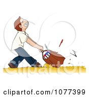 Clipart School Boy Dragging A Heavy Backpack Royalty Free Vector Illustration